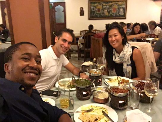 Indian food in Nairobi with INSEAD friends!