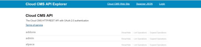 Cloud Cms API