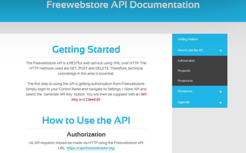 Free Webstore API