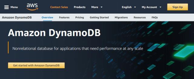 Amazon Dynamodb API