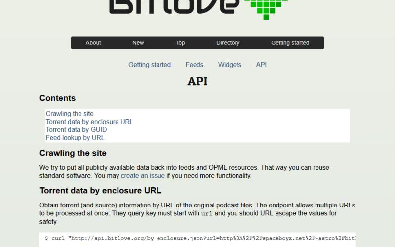 Bitlove API