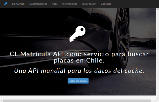 Chilean Car Registration API