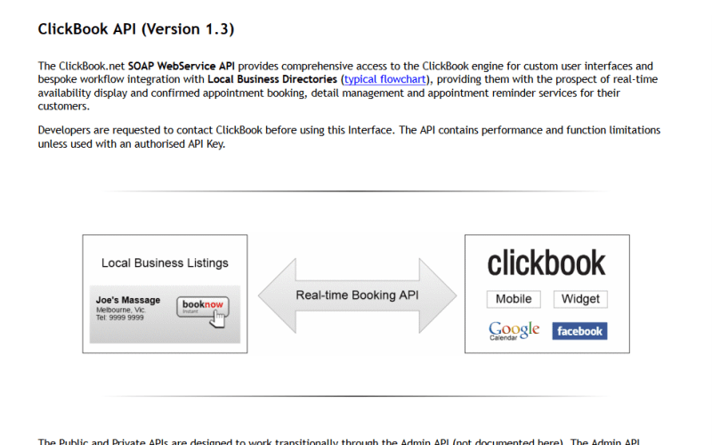 ClickBook API