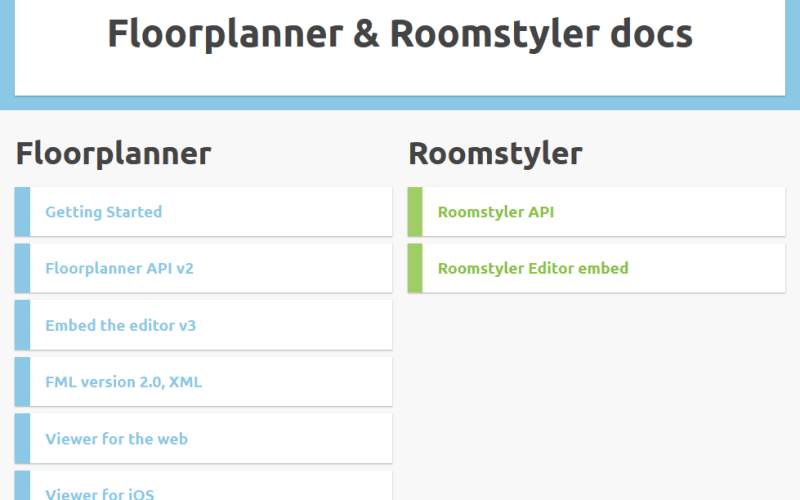 Floorplanner API
