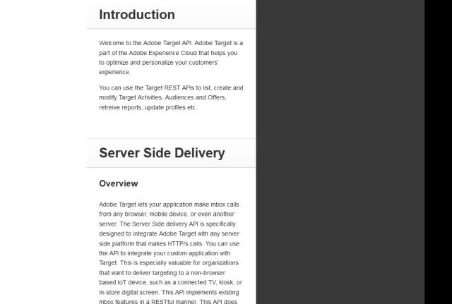 Adobe Target Admin API