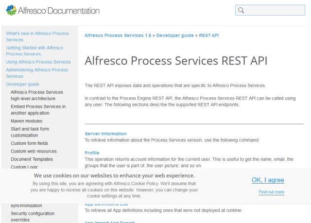 Alfresco Process Services API