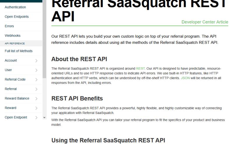 Referral SaaSquatch API