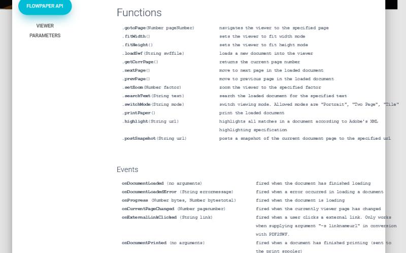 FlexPaper API