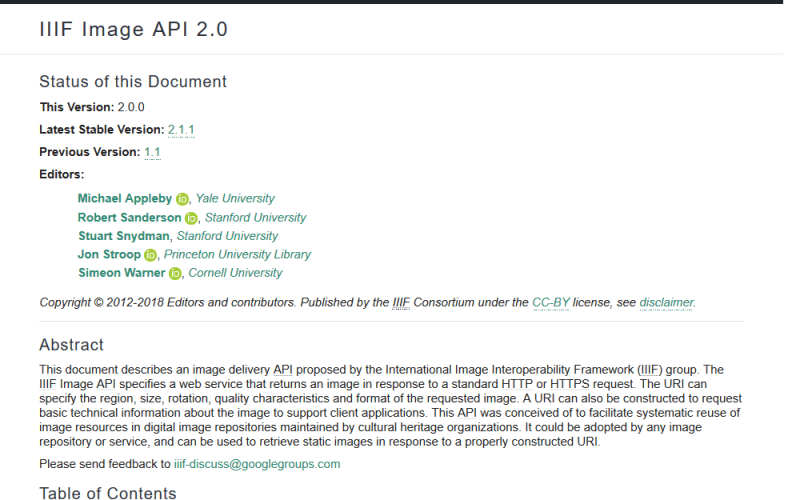 IIIF Image API