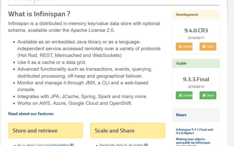 Infinispan API