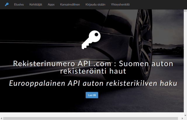 Finnish Vehicle Registration Searches API