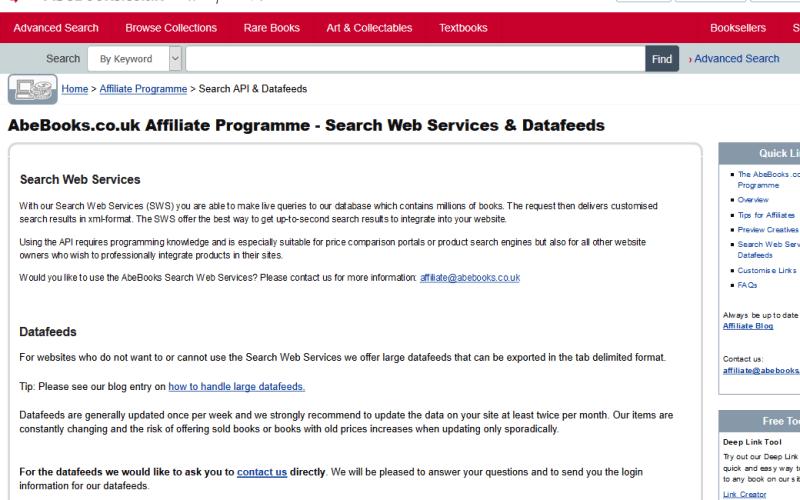 AbeBooks API
