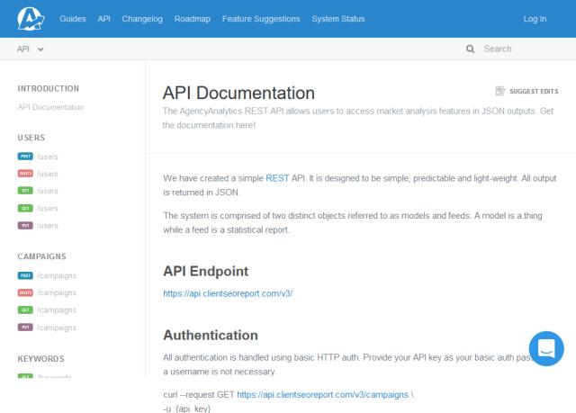 Agency Analytics API