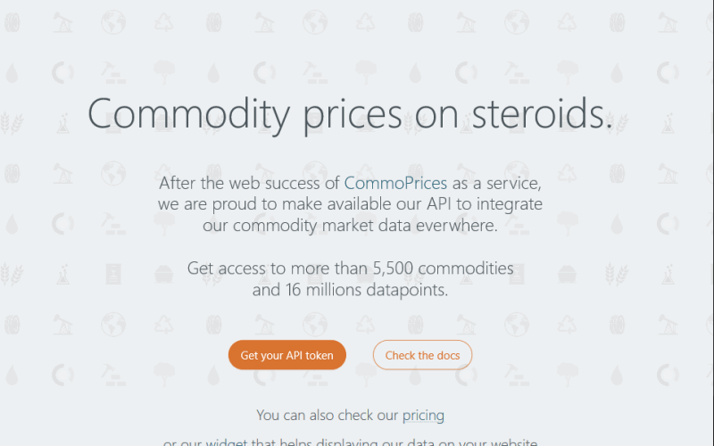 CommoPrices API