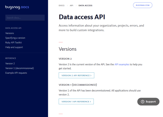 Bugsnag API