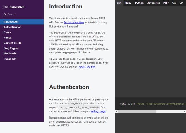 Buttercms API