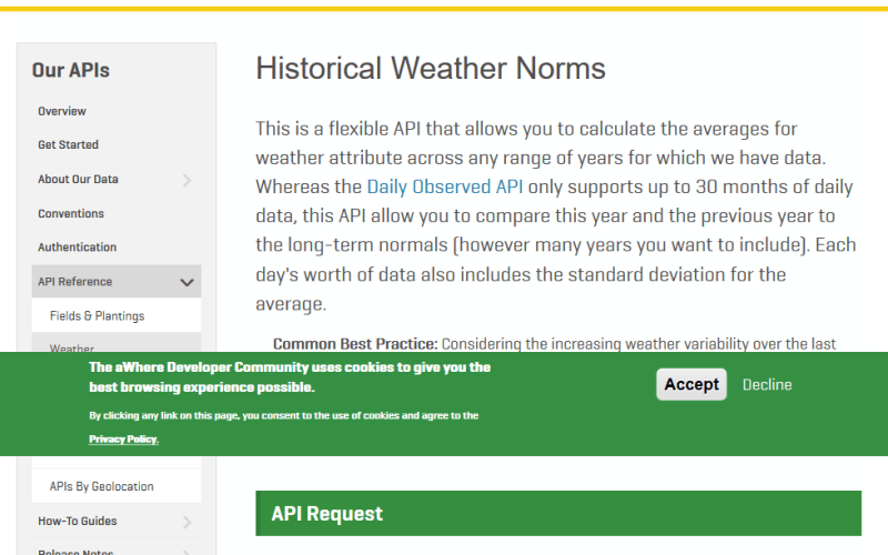 aWhere API