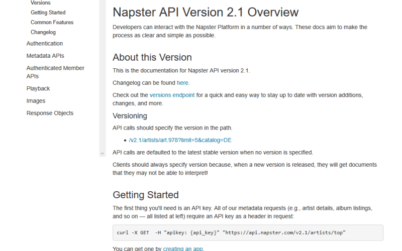 Napster API