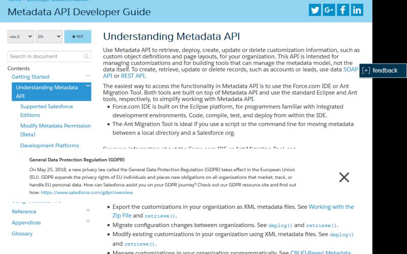 Salesforce.com Metadata API