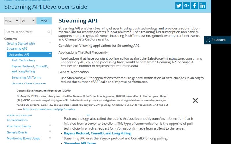 Salesforce Streaming API
