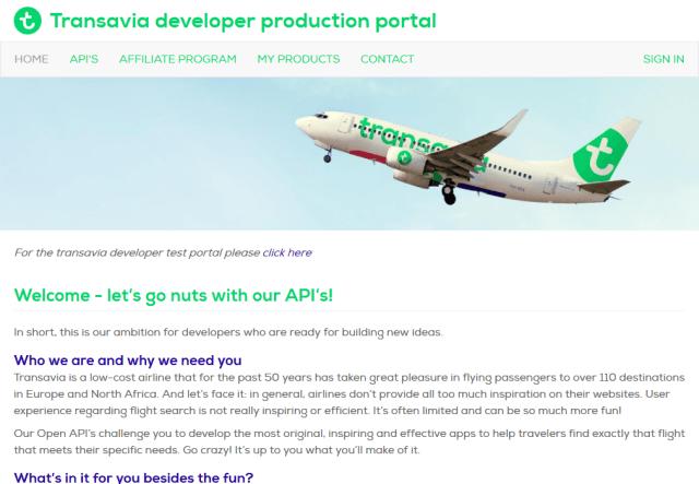 Transavia Routes API