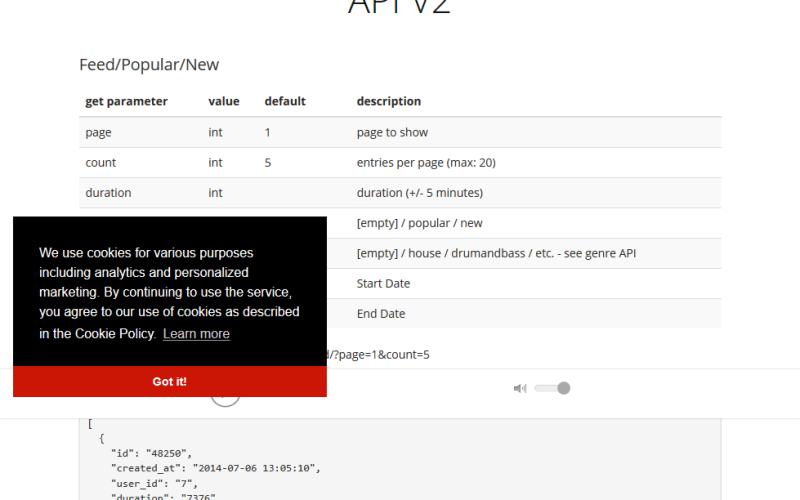 hearthis API