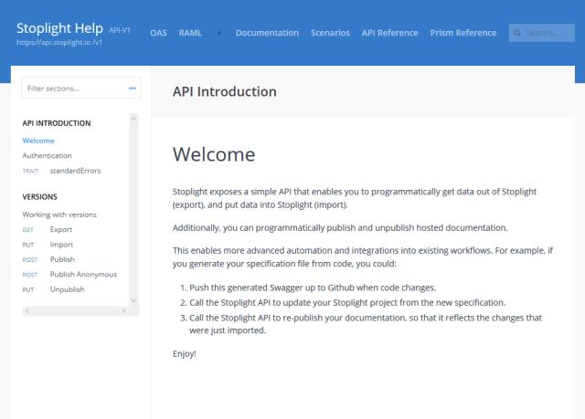 Stoplight API
