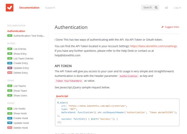 I Done API