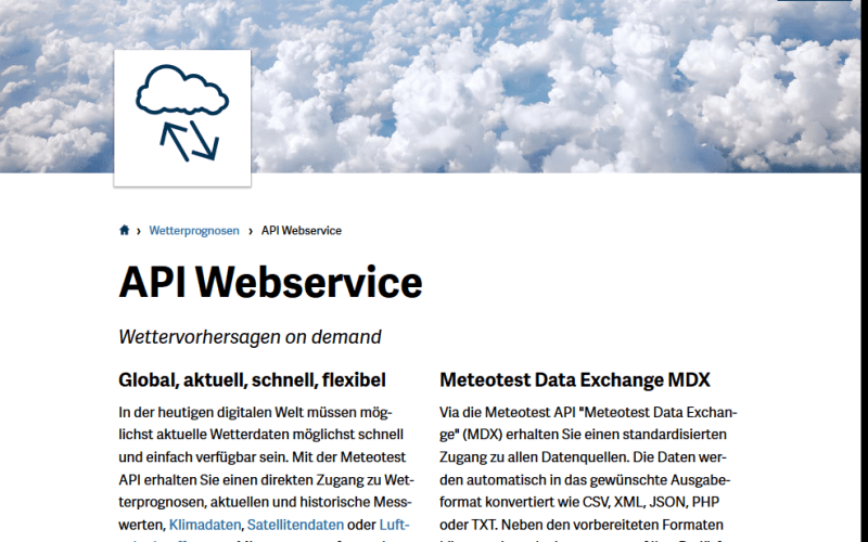 Meteotest Data Exchange API