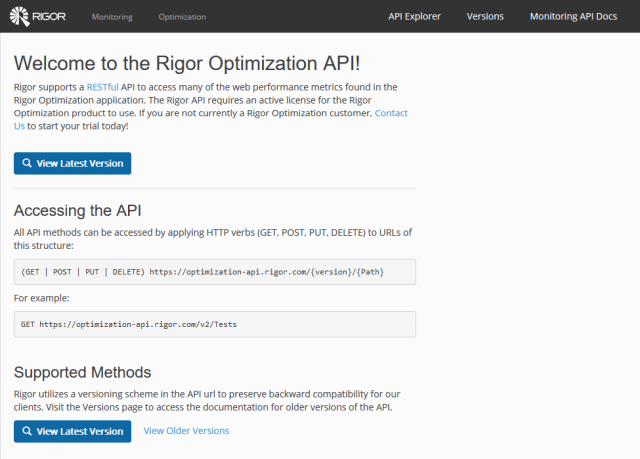 Rigor Optimization API