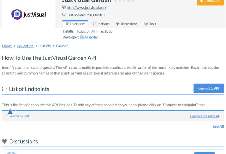 JustVisual API