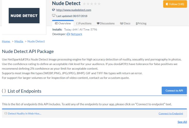 NetSpark Nude Detect API