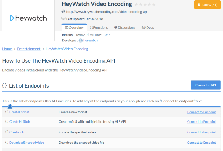 HeyWatch Video Preview API