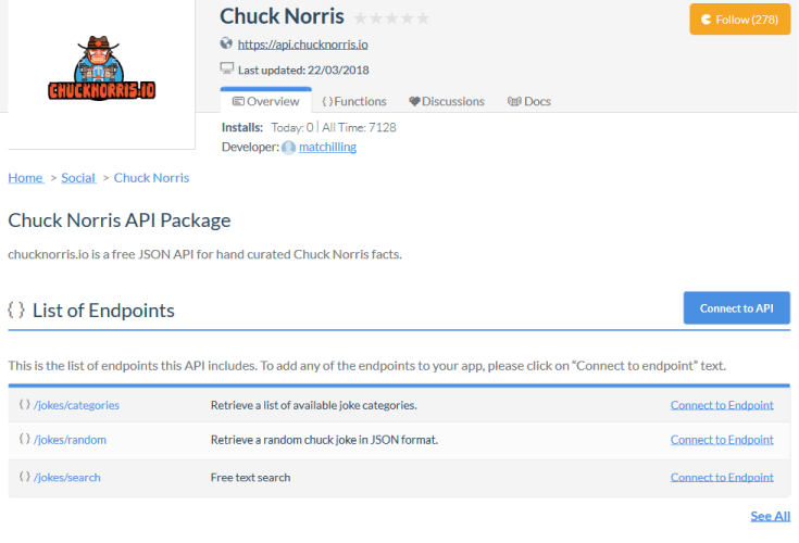 Chuck Norris Facts API