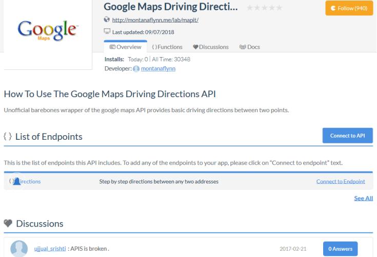 Google Maps Tracks API