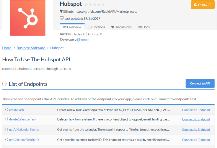 HubSpot Workflows API