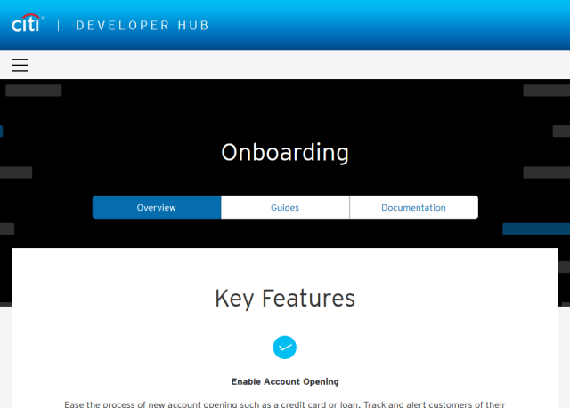Citibank Onboarding API