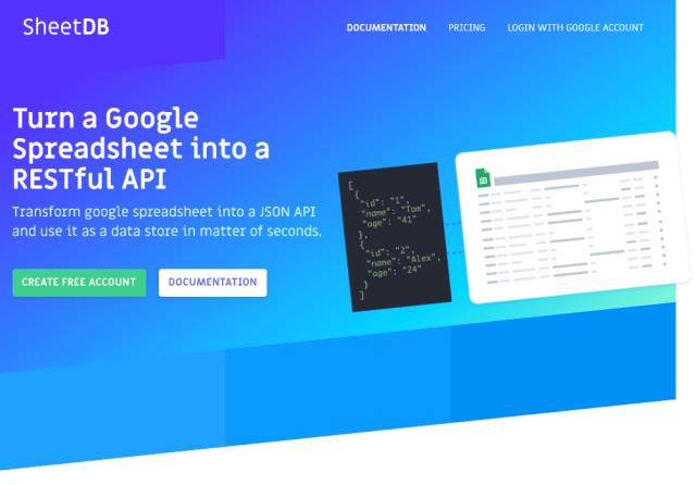 Sheetdb API