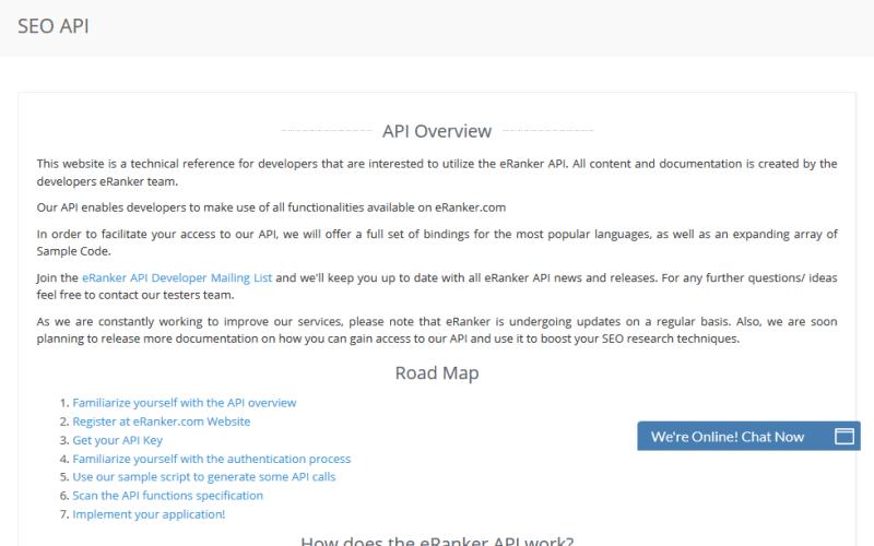 eRanker API