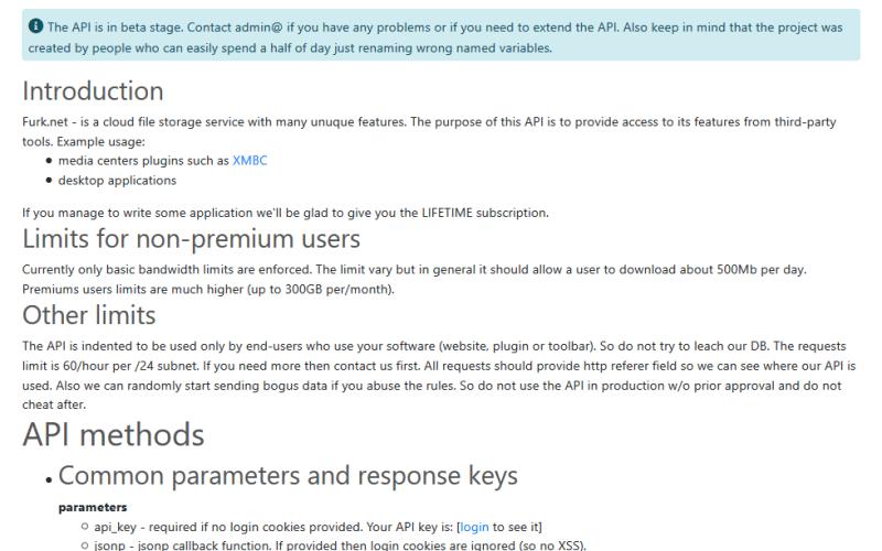 Furk.net API