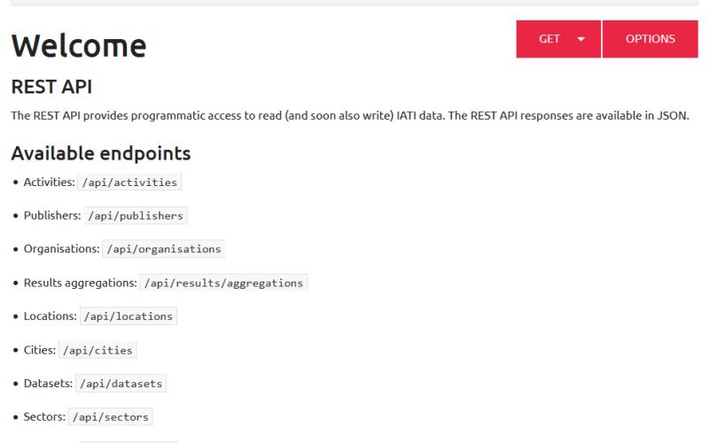 OIPA: Openaid IATI API