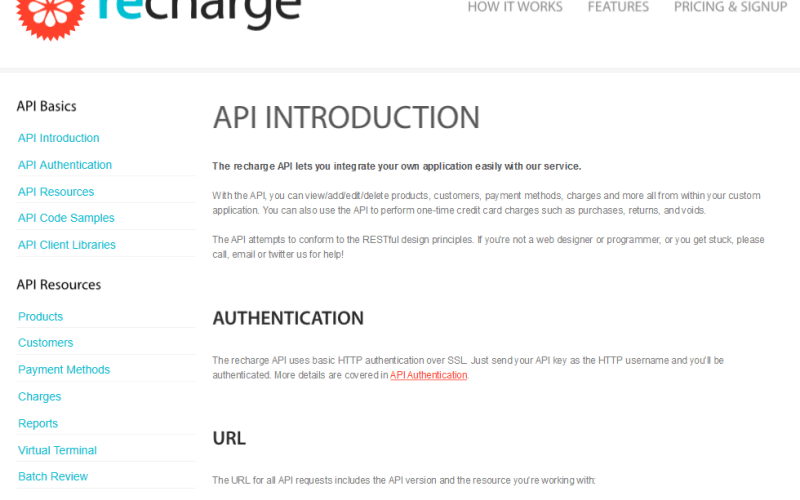 Recharge Billing API