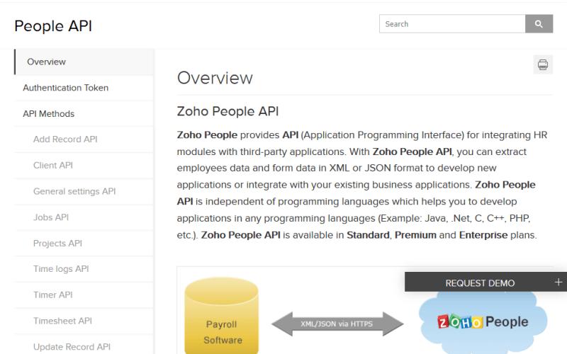 Zoho People API