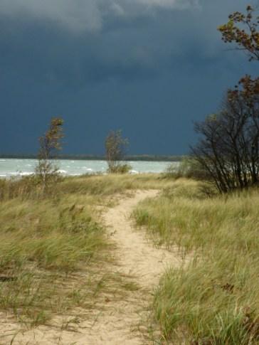 Path along the beach