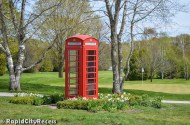 """A phone box - the picture of """"quaint"""""""