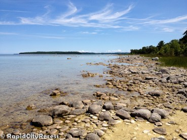 Rocky beach on Power Island