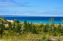 Looking down to Lake Michigan from the top of the small dune