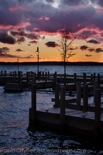 Alden Marina at sunset