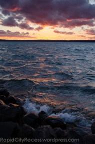 rocky Torch Lake sunset