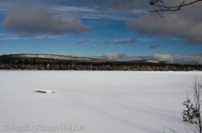 Frozen Lake Medora and baby mountains
